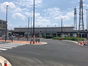 「沿線まちづくりの検討に関する協定締結」と「武蔵砂川駅の駐輪場」